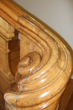 Detail Handlauf Schnecke im Schlosshotel Bühler Höhe in Baden Baden