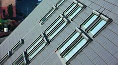 Roto Dachfenster Mehrfach nebeneinander und übereinander