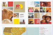 Der Messestand für Elefant Tours wurde von Zimmermeister Werner Böcherer nach Farben und Bildern des aktuellen Reiseprospektes gestaltet