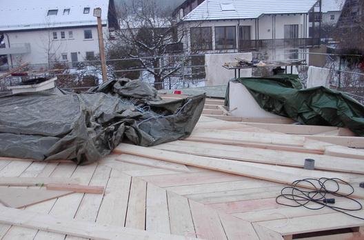 Dachkonstruktion Bretterschalung als Unterdeckung für eine Falzblechdeckung