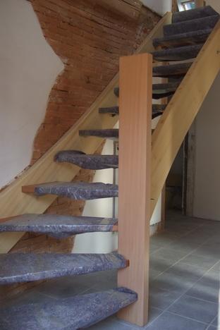Eingestemmte Treppe im Leibgeding - Bauernhaus in Kohlenbach bei Waldkirch