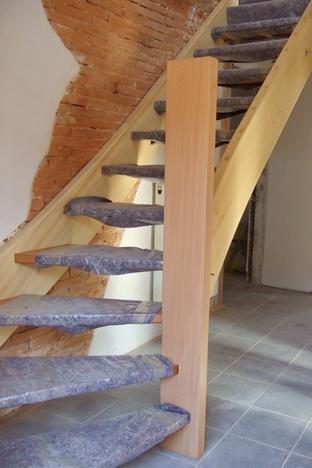 Durch das Verziehen von Stufen wird der Treppenlauf länger, die Treppe bequemer